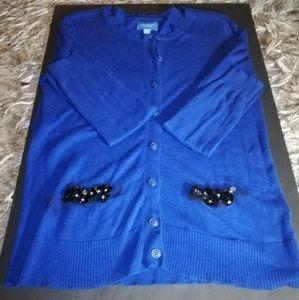 Simply Vera Vera Wang Royal Blue Cardigan
